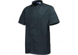 Basic Stud Jacket (Short Sleeve) Black