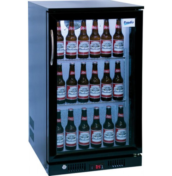 Single Door Bottle Cooler Black Finish
