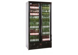 Double Door Upright Bottle Cooler Black Finish