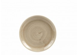 Patina Antique Taupe Coupe Plate