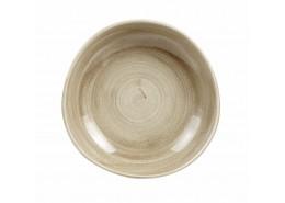 Patina Antique Taupe Organic Round Bowl