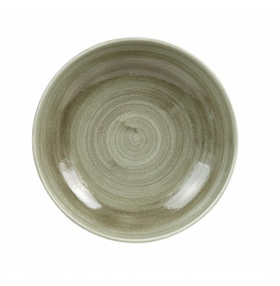 Patina Burnished Green Coupe Bowl