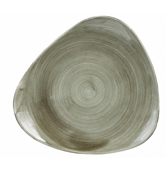 Patina Burnished Green Triangle Plate