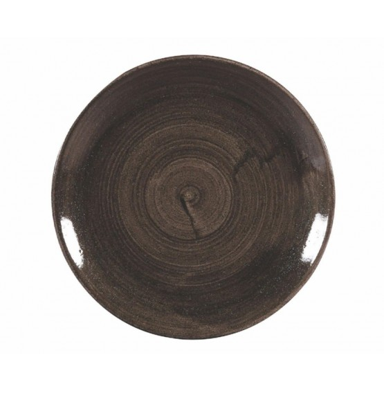 Patina Iron Black Coupe Plate