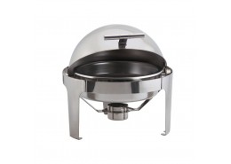 Round Deluxe Roll Top Chafer