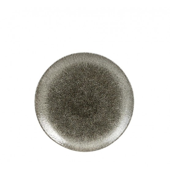 Raku Quartz Black Coupe Plate