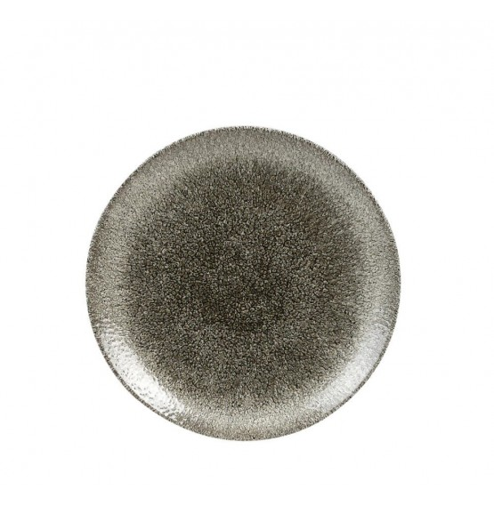 Raku Quartz Black Coupe Plate