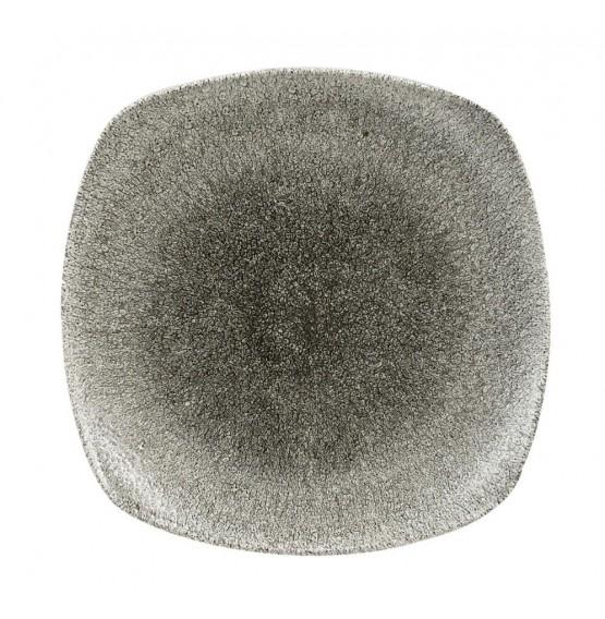 Raku Quartz Black Square Plate
