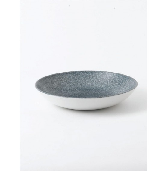 Raku Topaz Blue Coupe Bowl