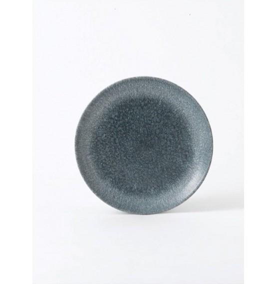 Raku Topaz Blue Coupe Plate