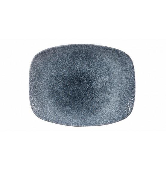 Raku Topaz Blue Chefs' Oblong Plate
