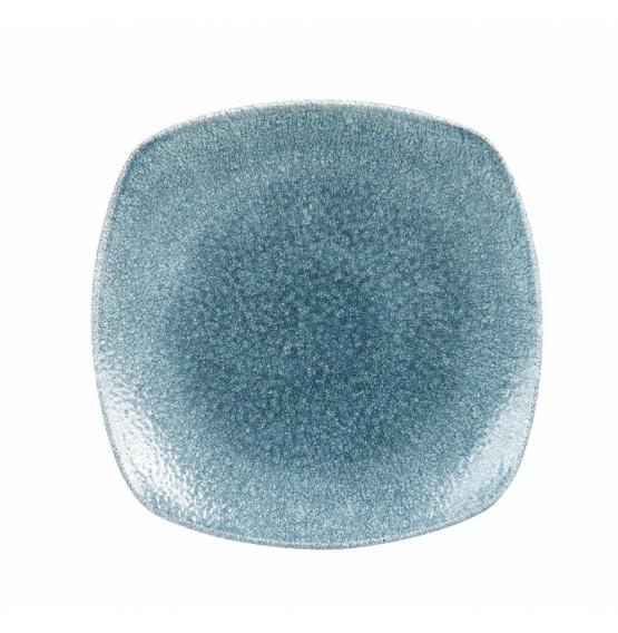 Raku Topaz Blue Square Plate