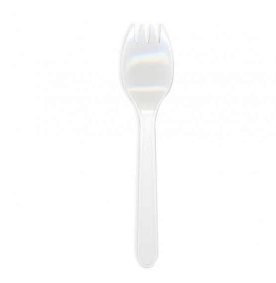 White Disposable Plastic Spork