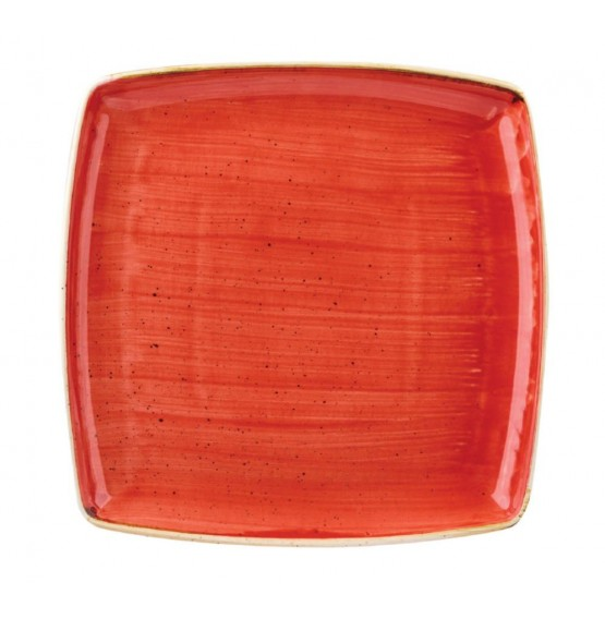 Stonecast Berry Red Square Plate