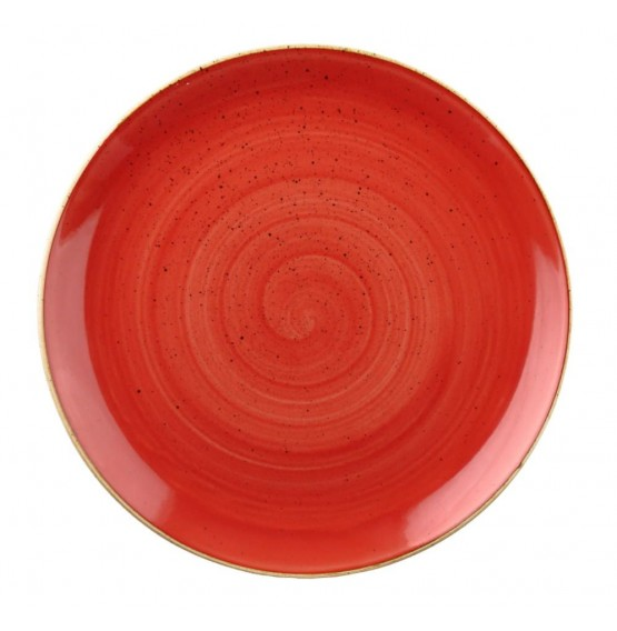 Stonecast Berry Red Coupe Plate