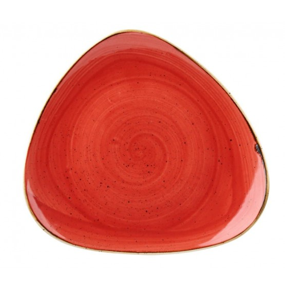 Stonecast Berry Red Triangle Plate
