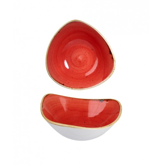 Stonecast Berry Red Triangle Bowl
