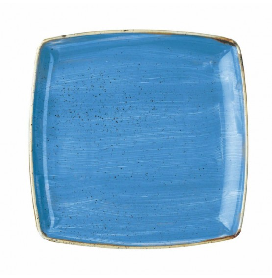 Stonecast Cornflower Blue Deep Square Plate
