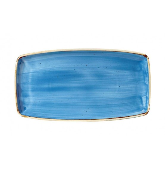 Stonecast Cornflower Blue Oblong Plate