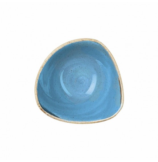 Stonecast Cornflower Blue Triangle Bowl