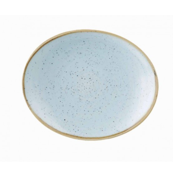 Stonecast Duck Egg Blue Oval Plate