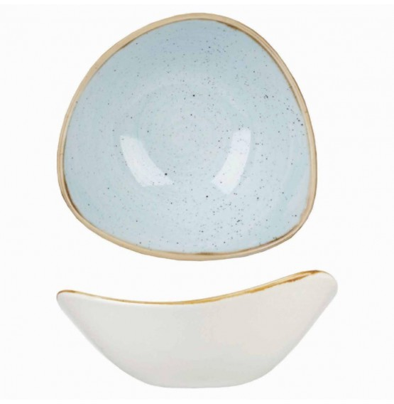 Stonecast Duck Egg Blue Triangle Bowl