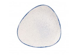 Stonecast Hints Indigo Blue Triangle Plate