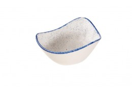 Stonecast Hints Indigo Blue Triangle Bowl