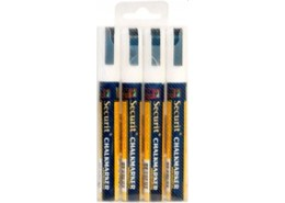 Liquid Chalk Markers 4 Pack White Medium