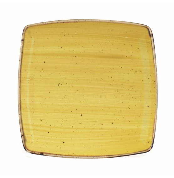 Stonecast Mustard Seed Yellow Deep Square Plate