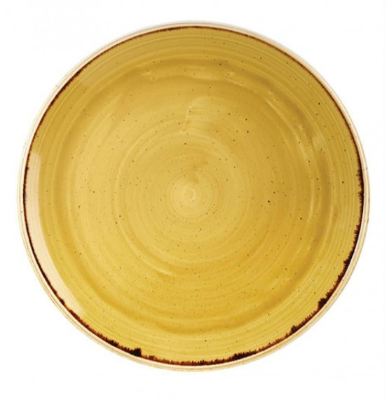 Stonecast Mustard Seed Yellow Coupe Plate