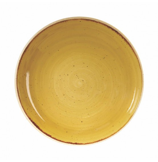 Stonecast Mustard Seed Yellow Coupe Bowl