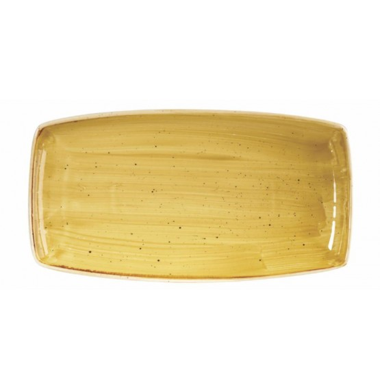Stonecast Mustard Seed Yellow Oblong Plate