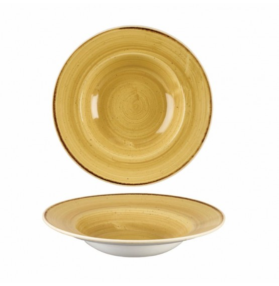Stonecast Mustard Seed Yellow Wide Rim Bowl