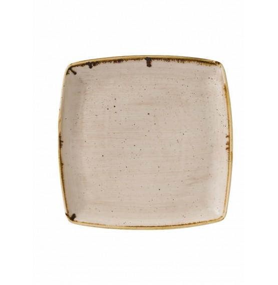 Stonecast Nutmeg Deep Square Plate