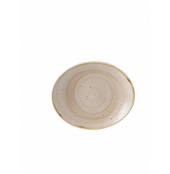 Stonecast Nutmeg Oval Coupe Plate