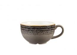 Homespun Charcoal Black Cappuccino Cup