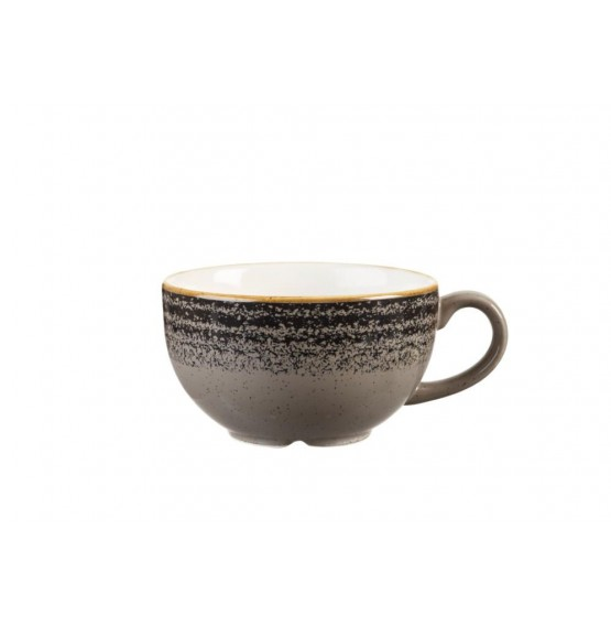 Homespun Charcoal Black Cappuccino Cup