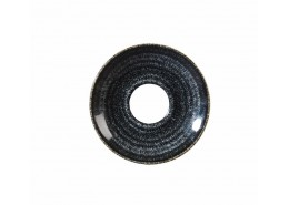 Homespun Charcoal Black Saucer