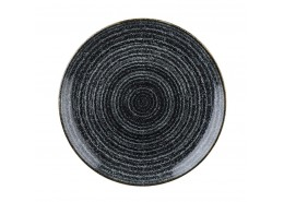 Homespun Charcoal Black Coupe Plate