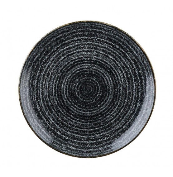 Homespun Charcoal Black Coupe Plate