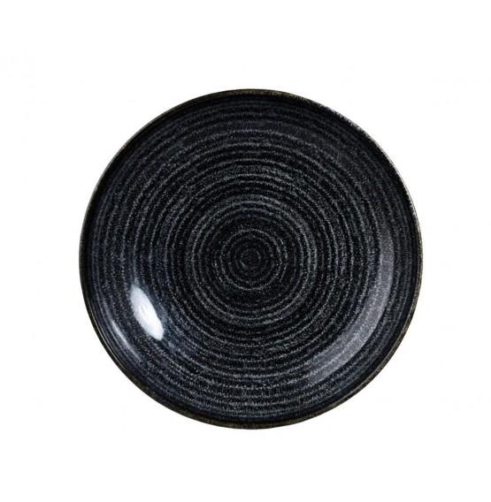 Homespun Charcoal Black Coupe Bowl