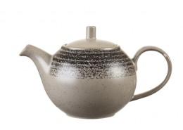 Homespun Charcoal Black Beverage Pot