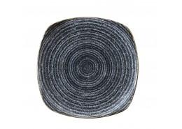 Homespun  Charcoal Black Square Plate