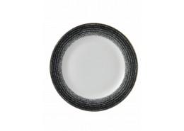 Homespun Charcoal Black Rimmed Plate