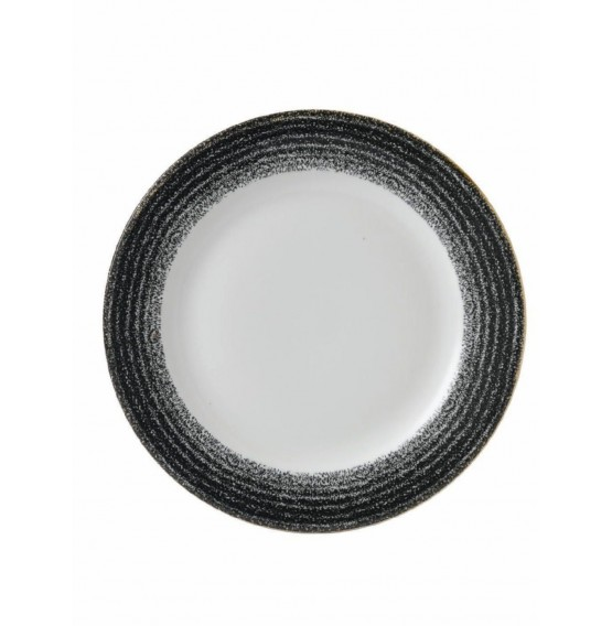 Homespun Charcoal Black Rimmed Plate