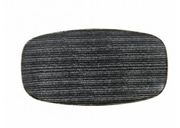 Homespun Charcoal Black Chef's Oblong Plate