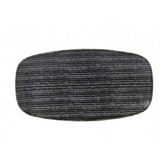 Homespun Charcoal Black Chef's Oblong Plate