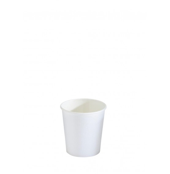 White Single Wall Speciality Hot Cup