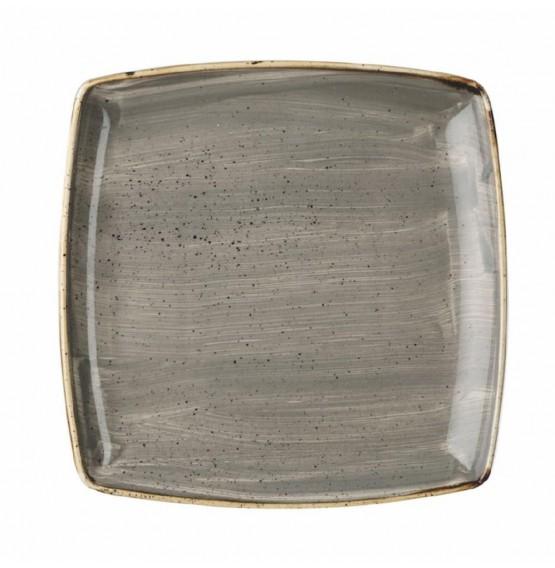 Stonecast Peppercorn Grey Deep Square Plate